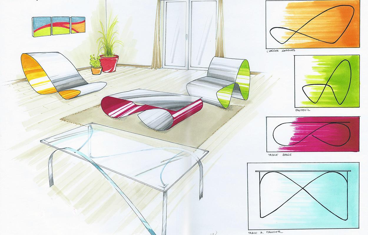 Rough Versus Design - Tables et chaises Coco Steel